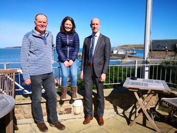 Isles of Scilly Wildlife Trust Chair & CEO with Isles of Scilly Steamship Group CEO
